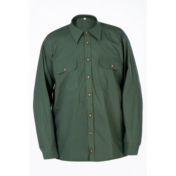 Lovska srajca (dolgi rokavi) – zelena